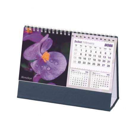SP-AMT-05-BL Çiçekli Masa Takvimi 03